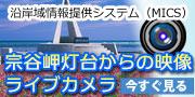 沿岸域情報提供システム(MICS)宗谷岬灯台からの映像ライブカメラ 今すぐ見る